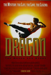 "Dragon: The Bruce Lee Story (Universal, 1993). One Sheet (27"" X 40"") Advance. Biography. Directed by Rob Cohen..."