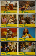 "Movie Posters:Adventure, Fathom (20th Century Fox, 1967). Lobby Card Set of 8 (11"" X 14"").Comedy. Starring Anthony Franciosa, Raquel Welch, Ronald F...(Total: 8 Items)"