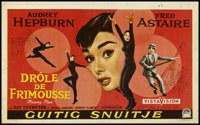 """Funny Face (Paramount, 1957). Belgian Poster (13.5"""" X 22""""). Romantic Musical. Directed by Stanley Donen. Starr..."""