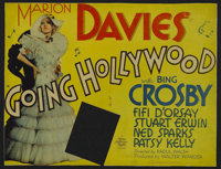 "Going Hollywood (MGM, 1933). Title Lobby Card (10"" X 13"") and Lobby Card (10"" X 13""). Musical. Direc..."