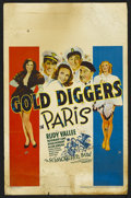 """Movie Posters:Musical, Gold Diggers in Paris (Warner Brothers, 1938). Window Card (14"""" X 22""""). Musical Comedy. Directed by Ray Enright. Starring Ru..."""