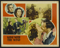 """Gone With the Wind (MGM, R-1947). Lobby Card (11"""" X 14""""). Romantic Epic. Starring Clark Gable, Vivien Leigh, L..."""