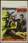 "Movie Posters:Horror, Horror of Dracula (Warner Brothers, 1958). Belgian (14"" X 21""). This film, perhaps the finest of all the Hammer Studio films..."