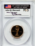 Modern Issues: , World Cup $5 1994-W PR69 Deep Cameo PCGS. Ex: Signature of John M.Mercanti, 12th Chief Engraver of the U.S. Mint. PCGS Pop...