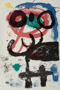 Prints:Contemporary, JOAN MIRÓ (Spanish, 1893-1983). La vendangeuse, 1964.Lithograph in colors. 35-1/2 x 24-1/4 inches (90.2 x 61.5 cm).Ed....
