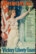 "Movie Posters:War, World War I Propaganda - Americans All! (U.S. Government PrintingOffice, 1919). Poster by Howard Chandler Christy (27"" X 39..."