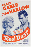 "Movie Posters:Romance, Red Dust (MGM, R-1963). One Sheet (27"" X 41""). Romance.. ..."