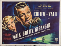 "Walk Softly, Stranger (RKO, 1950). British Quad (30"" X 40""). Crime"