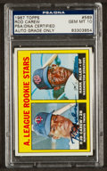 Autographs:Sports Cards, Signed 1967 Topps Rod Carew Rookie #569 PSA/DNA Gem MT 10. ...