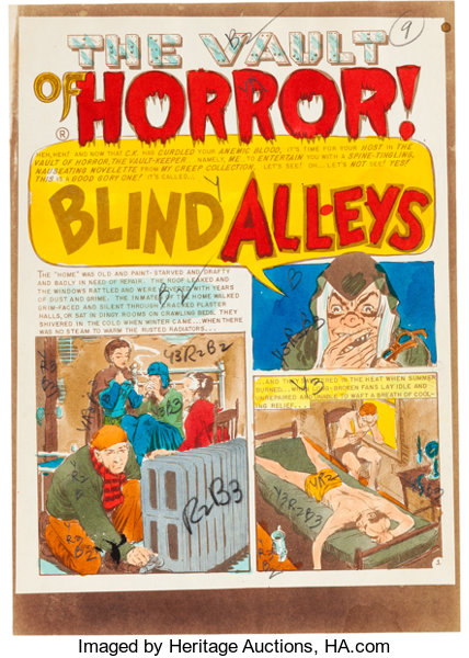 MemorabiliaComic Related Tales From The Crypt 46 Blind Alleys