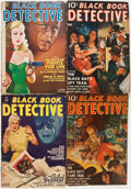 Pulps:Detective, Black Book Detective - Black Bat Group (Better Publications,1940-50) Condition: Average VG except as noted.... (Total: 7 Items)