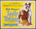 "Movie Posters:Animation, Lady and the Tramp (Buena Vista, 1955). Half Sheet (22"" X 28"").Animation.. ..."