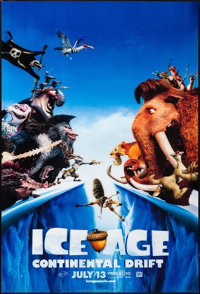 "Ice Age: Continental Drift (20th Century Fox, 2012). Lenticular One Sheet (27"" X 40"") Advance. Animation"
