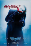 "Movie Posters:Action, The Dark Knight (Warner Brothers, 2008). One Sheet (27"" X 40"") DSAdvance Style A ""Why So Serious?"" Action.. ..."