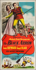 "Movie Posters:Adventure, The Black Arrow (Columbia, 1948). Three Sheet (41"" X 80"").Adventure.. ..."