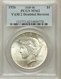 Peace Dollars, 1926 $1 Doubled Reverse MS62 PCGS. TOP-50. VAM-2. PCGS Population(24/131). NGC Census: (0/0)....