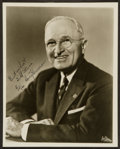 Miscellaneous Collectibles:General, 1960 Harry Truman Signed Photograph. ...