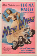 "Movie Posters:Drama, New Wine (United Artists, 1941). One Sheet (27"" X 41""). Drama.. ..."