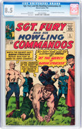 Silver Age (1956-1969):War, Sgt. Fury and His Howling Commandos #5 (Marvel, 1964) CGC VF+ 8.5 Off-white to white pages....