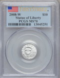 Modern Bullion Coins, 2008-W $10 Tenth-Ounce Statue of Liberty First Strike MS70 PCGS.PCGS Population (67). NGC Census: (0)....