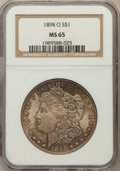 Morgan Dollars: , 1898-O $1 MS65 NGC. NGC Census: (12208/2041). PCGS Population(11141/2031). Mintage: 4,440,000. Numismedia Wsl. Price for p...