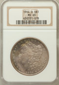 Morgan Dollars: , 1904-O $1 MS65 NGC. NGC Census: (15715/1461). PCGS Population(10538/858). Mintage: 3,720,000. Numismedia Wsl. Price for pr...