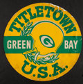 Football Collectibles:Others, 1960's Green Bay Packers Titletown U.S.A. 24 Inch Broadside. ...