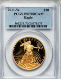 Modern Bullion Coins, 2011-W $50 One-Ounce Gold Eagle PR70 Deep Cameo PCGS. PCGSPopulation (236). NGC Census: (0). Numismedia Wsl. Price for pr...