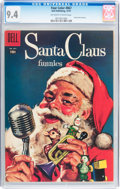 Silver Age (1956-1969):Humor, Four Color #867 Santa Claus Funnies (Dell, 1957) CGC NM 9.4 Off-white to white pages....