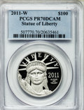 Modern Bullion Coins, 2011-W $100 One-Ounce Statue of Liberty PR70 Deep Cameo PCGS. PCGSPopulation (201). NGC Census: (351). Numismedia Wsl. Pr...