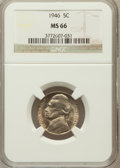 Jefferson Nickels: , 1946 5C MS66 NGC. NGC Census: (100/8). PCGS Population (77/0).Mintage: 161,116,000. Numismedia Wsl. Price for problem free...