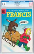 Silver Age (1956-1969):Cartoon Character, Four Color #745 Francis the Famous Talking Mule (Dell, 1956) CGC NM 9.4 Off-white to white pages....
