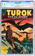Golden Age (1938-1955):Miscellaneous, Four Color #656 Turok (Dell, 1955) CGC VF- 7.5 White pages....