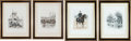 "Militaria:Ephemera, Four Prints: (1)""Ecole Speciale Militaire"", (2)""Chasseursa Pied"", 1885, (3) ""Dragons"", 1884, and (4)... (Total: 4 Items)"