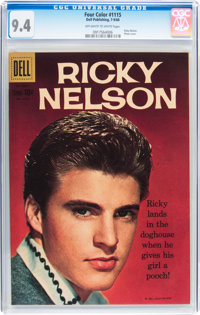 Four Color #1115 Ricky Nelson (Dell, 1960) CGC NM 9.4 Off-white to white pages