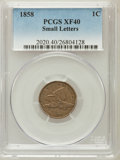 Flying Eagle Cents: , 1858 1C Small Letters XF40 PCGS. PCGS Population (101/888). NGCCensus: (0/3). Numismedia Wsl. Price for problem free NGC/...