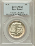 Commemorative Silver: , 1936 50C Long Island MS65 PCGS. PCGS Population (1209/462). NGCCensus: (1161/387). Mintage: 81,826. Numismedia Wsl. Price ...