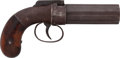 Handguns:Muzzle loading, Allen & Thurber Pepperbox Percussion Revolver....