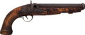 Handguns:Muzzle loading, Unmarked Continental Cannon Barrel Single Shot PercussionPistol....