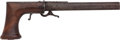Handguns:Muzzle loading, Unmarked Underhammer Percussion Single-Shot Boot Pistol. ...