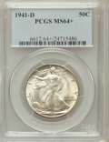 Walking Liberty Half Dollars, 1941-D 50C MS64+ PCGS. PCGS Population (2281/5427). NGC Census:(1277/3478). Mintage: 11,248,400. Numismedia Wsl. Price for...