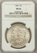 Morgan Dollars, 1896 $1 MS64 NGC. NGC Census: (15665/4949). PCGS Population(12650/4355). Mintage: 9,976,762. Numismedia Wsl. Price for pro...