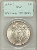 Morgan Dollars: , 1898-O $1 MS63 PCGS. PCGS Population (15993/40456). NGC Census:(15073/44981). Mintage: 4,440,000. Numismedia Wsl. Price fo...
