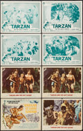 "Movie Posters:Adventure, Tarzan and the Lost Safari & Others Lot (MGM, 1957). LobbyCards (14) (11"" X 14""). Adventure.. ... (Total: 14 Items)"