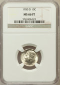 Roosevelt Dimes: , 1950-D 10C MS66 Full Bands NGC. NGC Census: (271/225). PCGSPopulation (654/132). Mintage: 46,803,000. Numismedia Wsl. Pric...