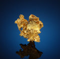 Minerals:Miniature, CRYSTALLIZED GOLD. Colorado Quartz Mine, Mariposa Co., California. ...