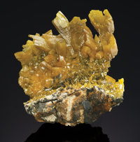 PYROMORPHITE Jersey Vein, 9th Level, 17-23 Floors, Bunker Hill Mine, Kellogg, Coeur d'Alene Dist., Idaho, USA</...