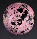 Lapidary Art:Eggs and Spheres, FINE RHODONITE SPHERE. California...