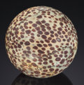 Lapidary Art:Eggs and Spheres, UNIQUE SPOTTED JASPER SPHERE. Unknown locality. ...