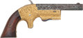 Handguns:Derringer, Palm, Factory Engraved Single-Shot Spur Trigger Pocket Pistol....